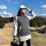 【モコモコなのにスイング快適】冬のゴルフは「Champion」のアウターで可愛くプレイ!