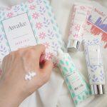 【ママ美容】潤うのにベタつかない。Awakeの新作ハンドセラム3種を香り違いで全種お試し!